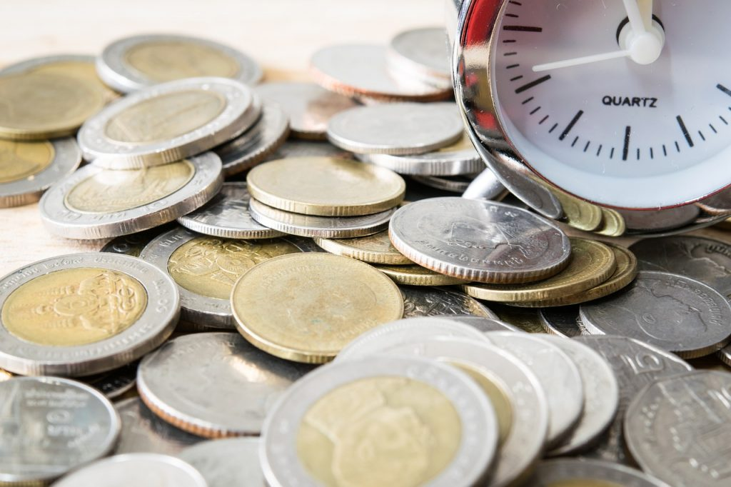Coins Currency Money Cash Time  - gadgetstou / Pixabay
